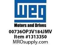 WEG 00736OP3V184JMV 7.5HP 3600 3 60 200/400V Close C.-ODP