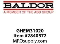 BALDOR GHEM31020 G.M. Q26PF 230/460VAC 20:1 86 GHEM31020 :