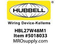 HBL_WDK HBL27W48M1 WT CONN L6-20R 20A/250V IN BOX