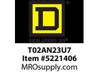 SquareD T02AN23U7 Rev. Contactor TeSys NEMA Sz00 3P 240VAC