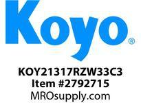 Koyo Bearing 21317RZW33C3 SPHERICAL ROLLER BEARING
