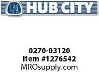 HubCity 0270-03120 RM3C-7.538-180TC-250TC