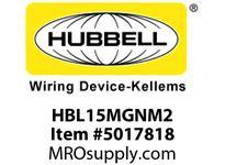 HBL_WDK HBL15MGNM2 SINGLE POLE SER 15 MALE PLUG 150A GN