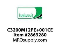 Habasit C3200M12PE+001C 1200/3200 12T Machined White PE C Hub - MPB