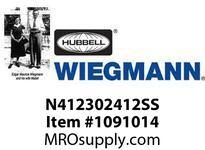 WIEGMANN N412302412SS N4XSDSS30X24X12