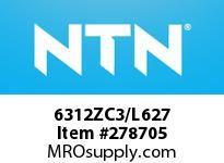 NTN 6312ZC3/L627 MEDIUM SIZE BB(STD)D>80<=203.2