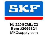 SKF-Bearing NJ 220 ECML/C3