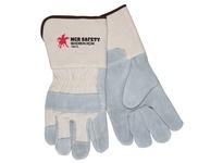 MCR 16011L Side Leather Palm 4.5 Gauntlet Cuff Sewn w/KEVLAR
