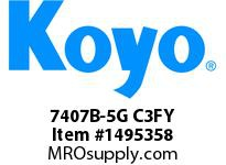 Koyo Bearing 7407B-5G C3FY ANGULAR CONTACT BEARING