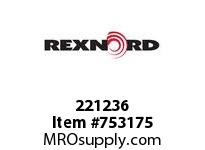 REXNORD 221236 604008 375.S71-8.CPLG STR SD L
