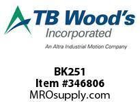 TBWOODS BK251 BK25/HB26 1 FHP SHEAV