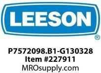 LEESON P7572098.B1-G130328 GEAR + MOTOR 867 IN LBS @ 349 RPM 5HP AC 3PH