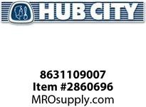 HUB CITY 8631109007 COUPLING PIPE 1/4NPTX1/4NPT STEEL Service Part