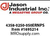 Jason 4358-0250-050ERNPS NBR/PVC DISCH 2-1/2 X 50 CPLD ER NPS ANODIZED AL YELLOW HOSE