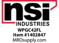 NSI WPGC42FL MINI WALLPAK DIE CAST 42 WATT FLUORESCENT GLASS LENS