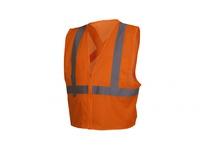 Pyramex RCZ2120X3 Hi-Vis Orange Vest with Reflective Tape - Size 3X Large