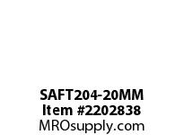 PTI SAFT204-20MM 2-BOLT FLANGE BEARING-20MM SAFT 200 SILVER SERIES - NORMAL DUT