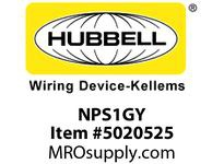 HBL_WDK NPS1GY WALLPLATE 1G TOG SNAP-ON GRAY