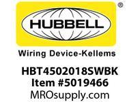 HBL_WDK HBT4502018SWBK WBPRFRM RADI 45 2Hx18W BLACKSTLWLL