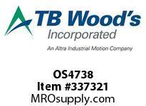TBWOODS OS4738 OS47X3/8 FHP SHEAVE