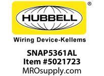 HBL_WDK SNAP5361AL SNAP SGL RCPT 5-20R 20A 125V AL