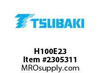 US Tsubaki H100E23 HT Cross Reference H100E23 QD SPROCKET HT
