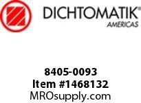 Dichtomatik 8405-0093 SYMMETRICAL SEAL 8400 SERIES NITRILE 80 DURO BEVELED LIP U-CUP INCH