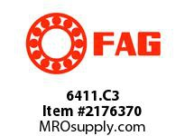FAG 6411.C3 RADIAL DEEP GROOVE BALL BEARINGS