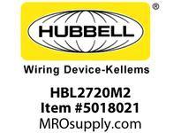 HBL_WDK HBL2720M2 LKG RCPT 30A 3P 250V L15-30R BULK