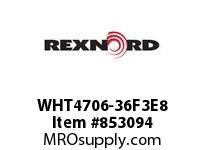 REXNORD WHT4706-36F3E8 WHT4706-36 F3 T8P WHT4706 36 INCH WIDE MATTOP CHAIN W