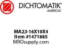 Dichtomatik MA23-16X10X4 PISTON SEAL NITRILE 90 DURO PISTON SEAL METRIC
