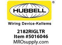 HBL_WDK 2182RIGLTR HUBBELL-PRO HG DEC 20A/125V IG LED TR RD