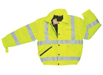 MCR BMRCL3LX2 Luminator Insulated Poly Bomber Jacket Fluorescent Lime