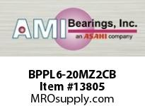 AMI BPPL6-20MZ2CB 1-1/4 ZINC NARROW SET SCREW BLACK P