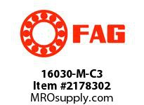FAG 16030-M-C3 RADIAL DEEP GROOVE BALL BEARINGS