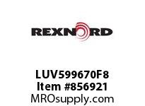 REXNORD LUV599670F8 LUV5996-70 F.625 T8P N1