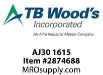 TB Woods AJ30 1615 Reverse Mount Hub