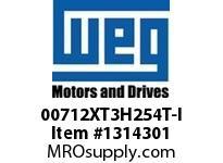 WEG 00712XT3H254T-I 7.5HP 1200 60 575 XP - Nema Pr