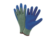 West Chester 700SLCE/L 10 gauge Grey Knit w/Crinkled Blue Latex Palm Coating.
