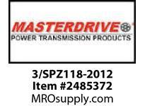 MasterDrive 3/SPZ118-2012 3 GROOVE SPZ SHEAVE