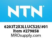 NTN 6203T2X3LLUCS25/#01 SMALL SIZE BALL BRG(STANDARD)