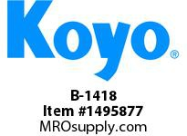 Koyo Bearing B-1418 NEEDLE ROLLER BEARING DRAWN CUP FULL COMPLEMENT