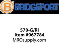 "Bridgeport 570-G/RI 3/8"" GREEN/RED INS HCF CABLE C"