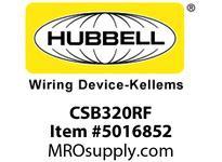 HBL_WDK CSB320RF SWITCH 3W 20A 120/277V B+S RD FRAME