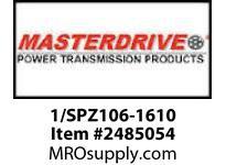 MasterDrive 1/SPZ106-1610 1 GROOVE SPZ SHEAVE