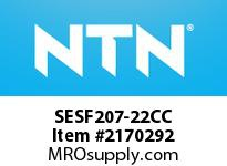 NTN SESF207-22CC Stainless-Square flanged unit