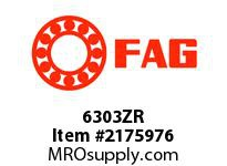 FAG 6303ZR RADIAL DEEP GROOVE BALL BEARINGS