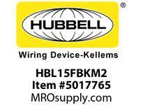 HBL_WDK HBL15FBKM2 SINGLE POLE SER 15 FEM PLUG 150A BK