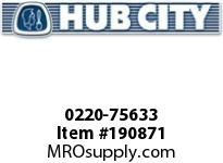 HUBCITY 0220-75633 SS215 40/1 A WR 143TC 1.188 SS WORM GEAR DRIVE