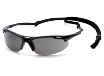 Pyramex SB4520DP Black Frame/Gray Lens with Cord